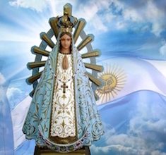 Imagen Virgen de Luján abanderada